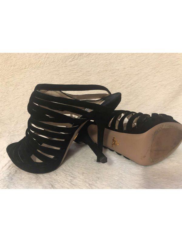 Sandale cu toc PRADA (#17580) - SASSY STATION Fashion Marketplace - vinde și cumpără haine, pantofi, genti, accesorii pentru femei